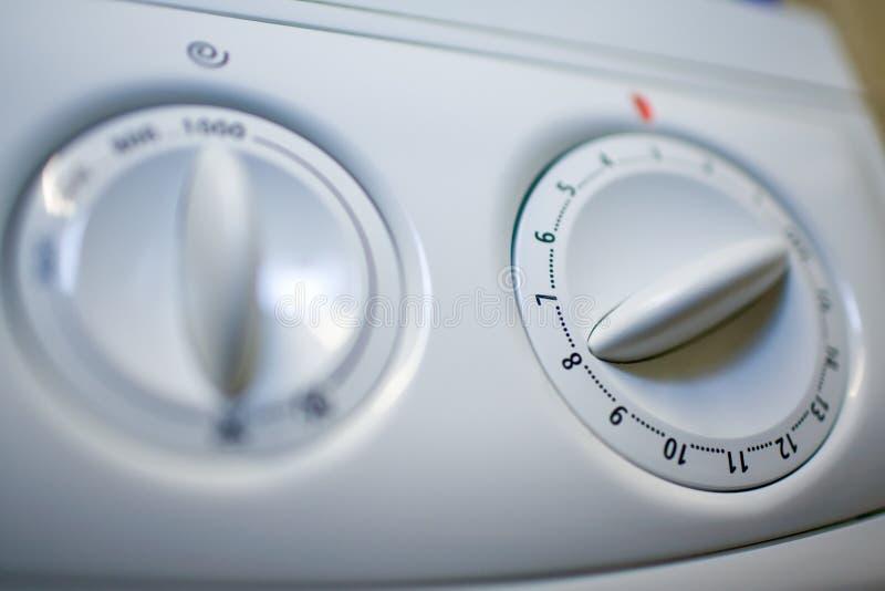 Rotativo-interruttore della lavatrice fotografia stock libera da diritti