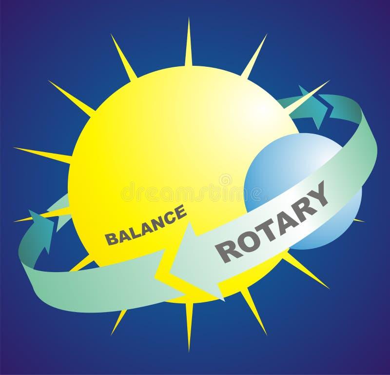 Rotatoire et équilibre illustration libre de droits