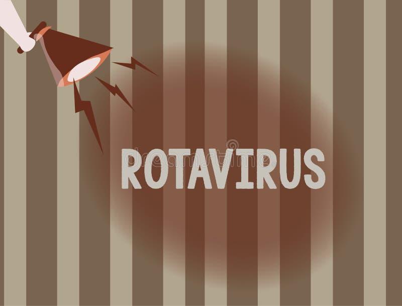 Rotavirus för textteckenvisning Ledande orsak för begreppsmässigt foto av den sträng diarrén och uttorkning i barn stock illustrationer