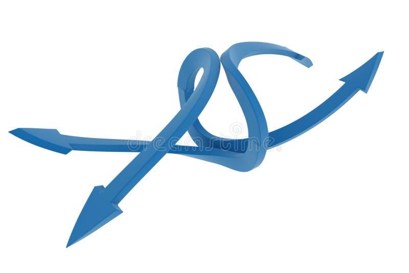 Rotazione bidirezionale della freccia blu royalty illustrazione gratis