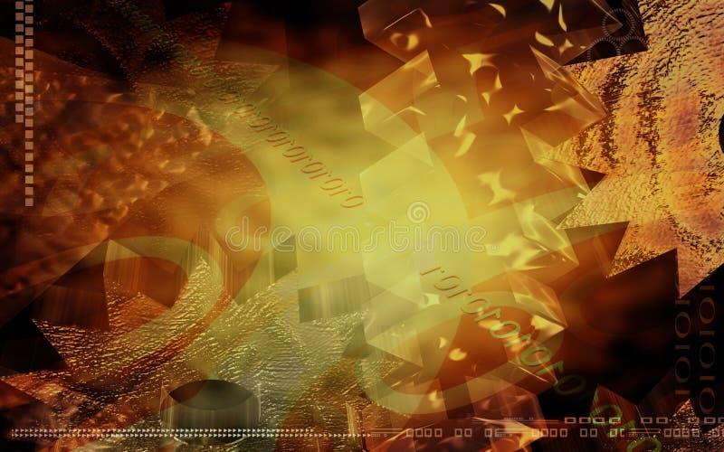Download Rotazione degli attrezzi illustrazione di stock. Illustrazione di digitale - 7320230
