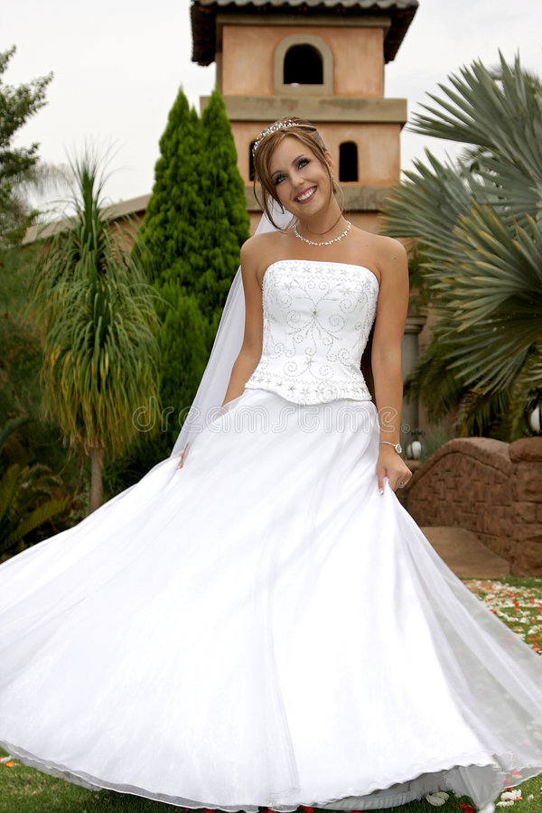 Rotazione della sposa fotografia stock