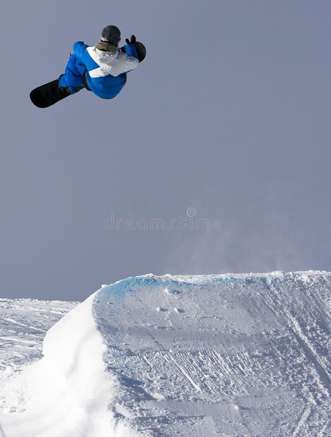Rotazione dello Snowboard fotografia stock