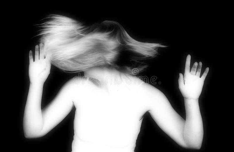 Rotazione infrarossa dei capelli immagine stock libera da diritti