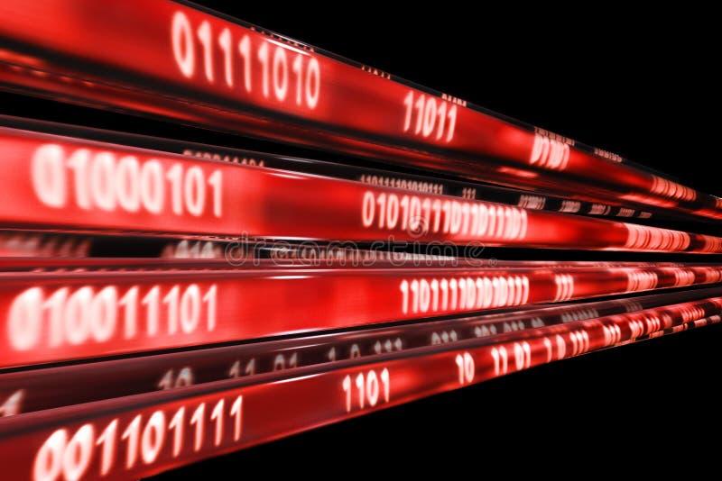 Rote Übertragung stockfotografie