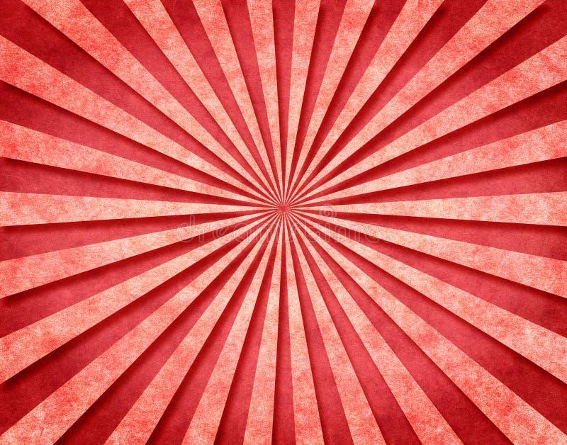 Rote 3-D Sunbeams lizenzfreie abbildung