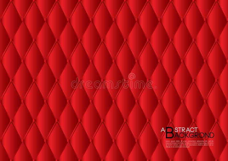 Rote abstrakte Hintergrundvektorillustration, Abdeckung Schablone Plan, Geschäftsflieger, lederner Beschaffenheitsluxus lizenzfreie abbildung