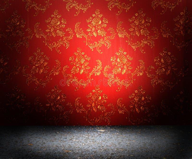 Rote alte tapete stockbild bild von exemplar for Rote tapete
