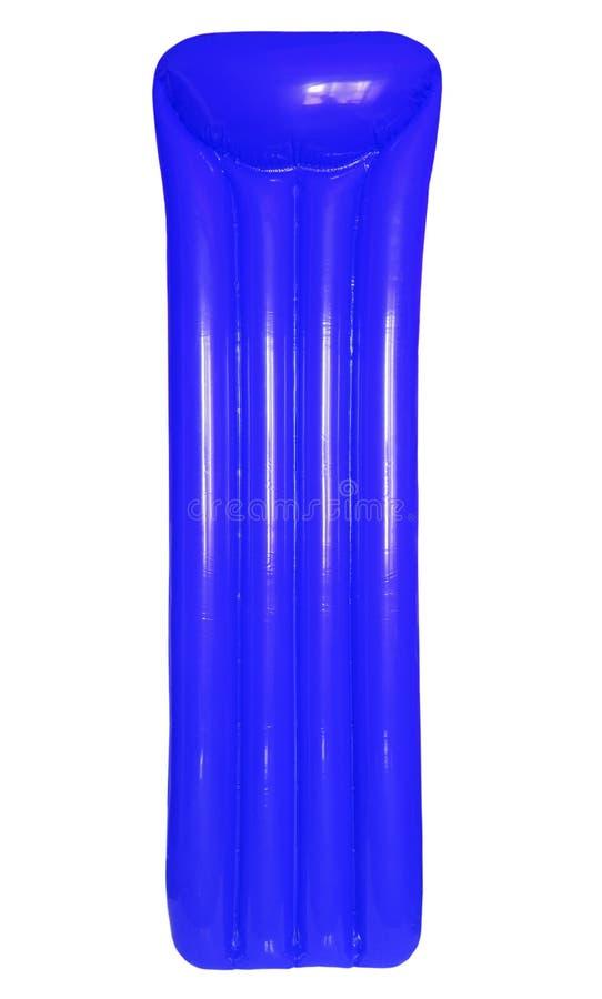 Rote aufblasbare sich hin- und herbewegende Poolflossmatratze lokalisiert auf weißem BAC lizenzfreies stockfoto
