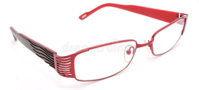 Rote Augengläser stockbild