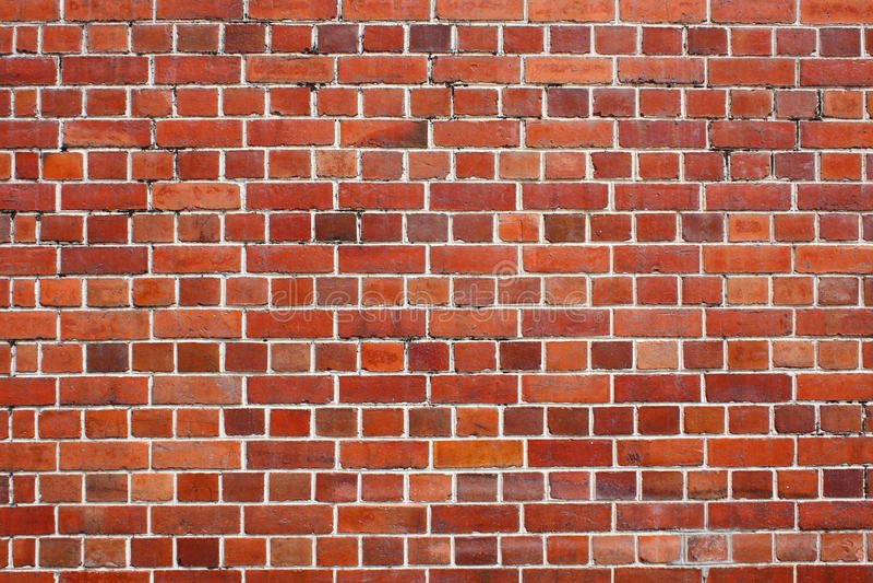 Rote Backsteinmauer stockfotografie