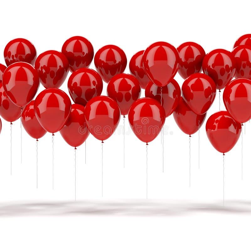 Rote Ballone stock abbildung