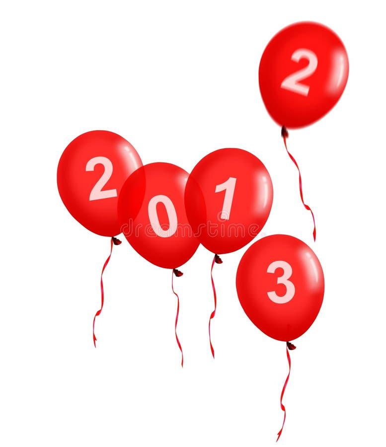 Download Rote Ballone Des Neuen Jahres 2013 Stock Abbildung - Illustration von weihnachten, grüße: 26354385