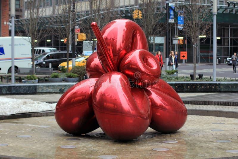 Rote Ballonkunst Jeff Koonss lizenzfreies stockbild