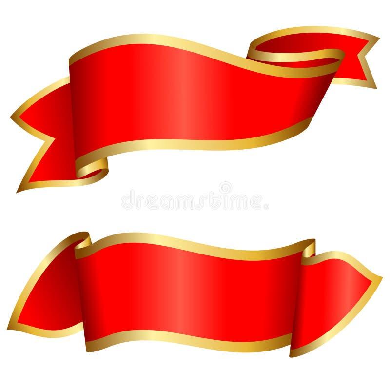 Rote Bandansammlung vektor abbildung