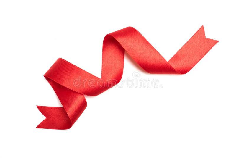 Rote Bandgrenze lokalisiert auf Weiß stockfoto