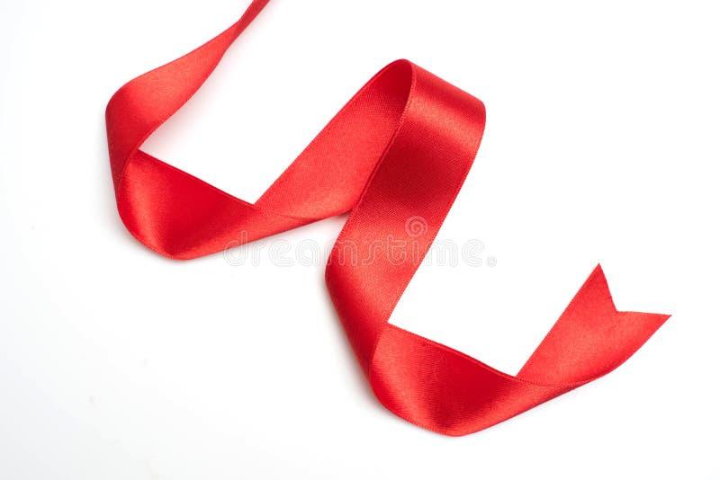Rote Bandgrenze lokalisiert auf Weiß stockfotos