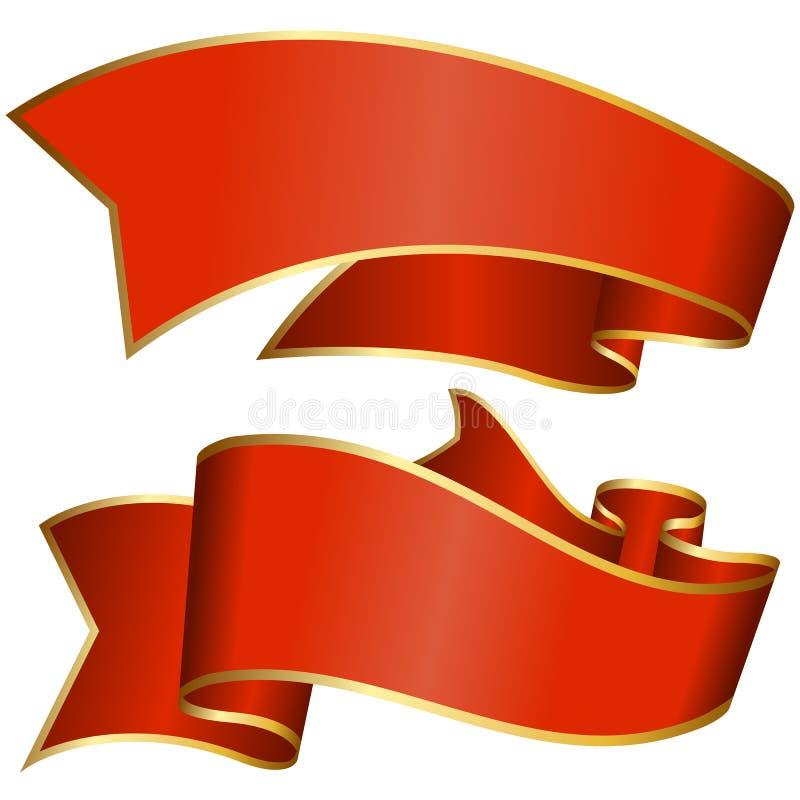 Rote Bandsammlung stock abbildung