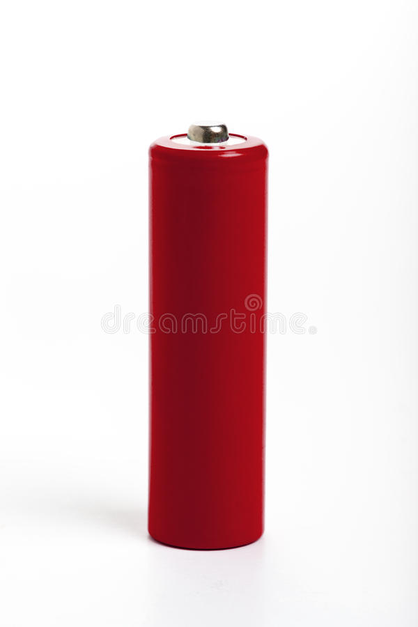 Rote Batterie stockbilder