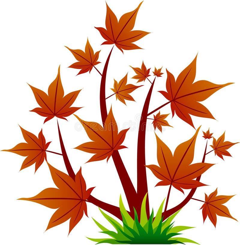Rote Baumikone mit Blatt stock abbildung
