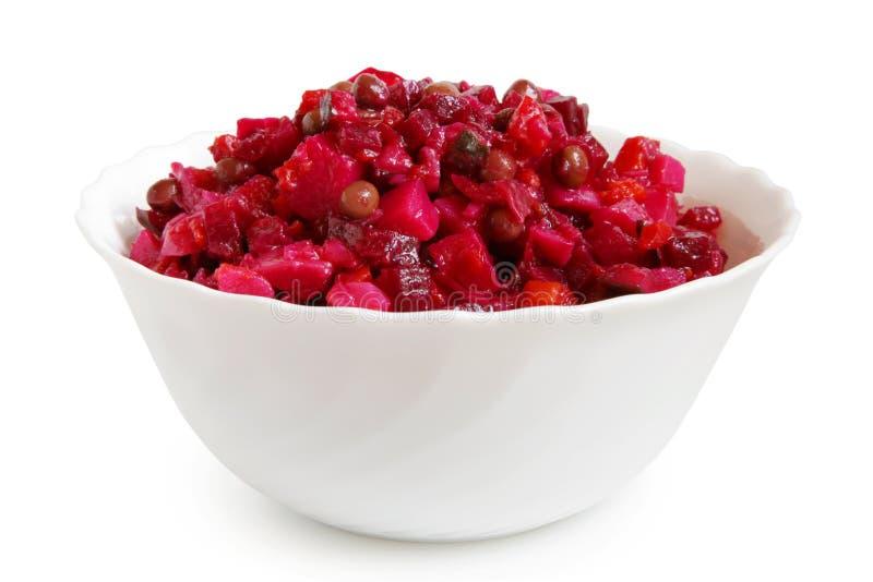Rote-Bete-Wurzeln Salat in der Schüssel lizenzfreie stockfotos