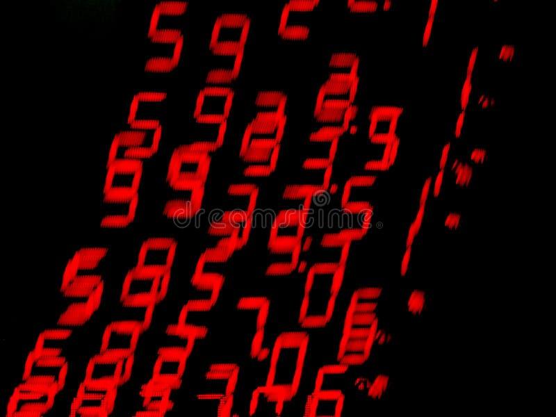 Rote bewegliche Zahlen stockbilder