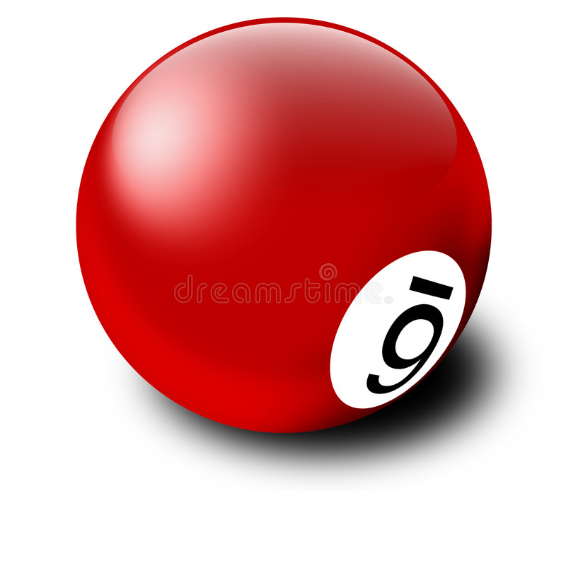 Rote Billiard-Kugel stock abbildung