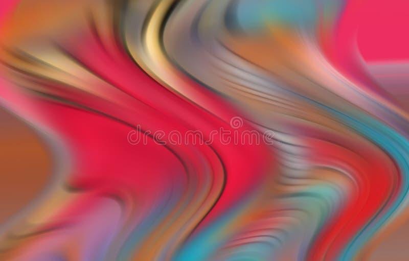 Rote blaue flüssige Lichter, Formen und Formen, geometrischer abstrakter Hintergrund vektor abbildung