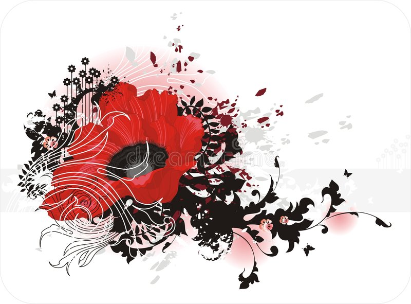 Rote Blume vektor abbildung