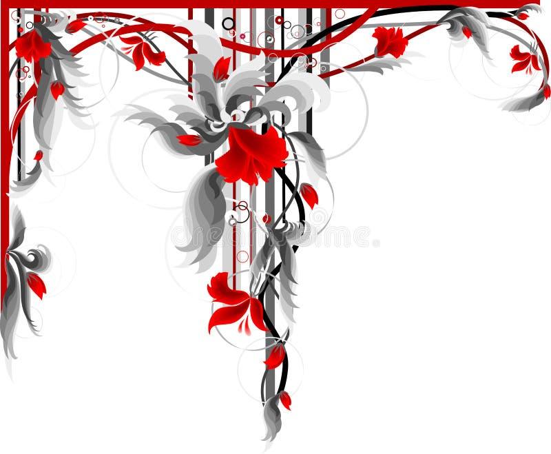 Rote Blumendekoration. lizenzfreie abbildung