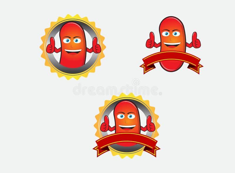 Rote Bohne mit Verzierung stockbilder
