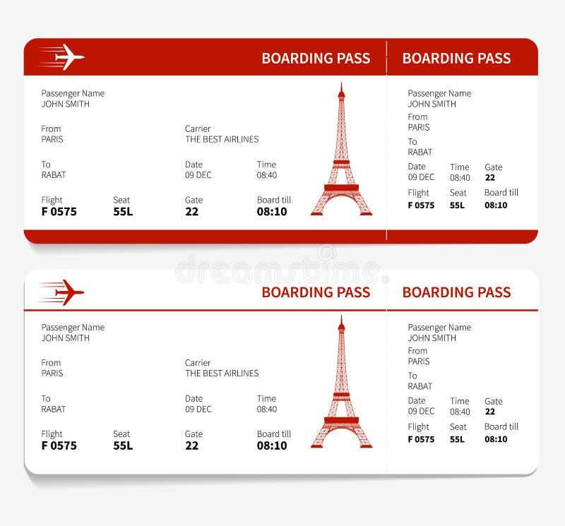Rote Bordkarte stock abbildung