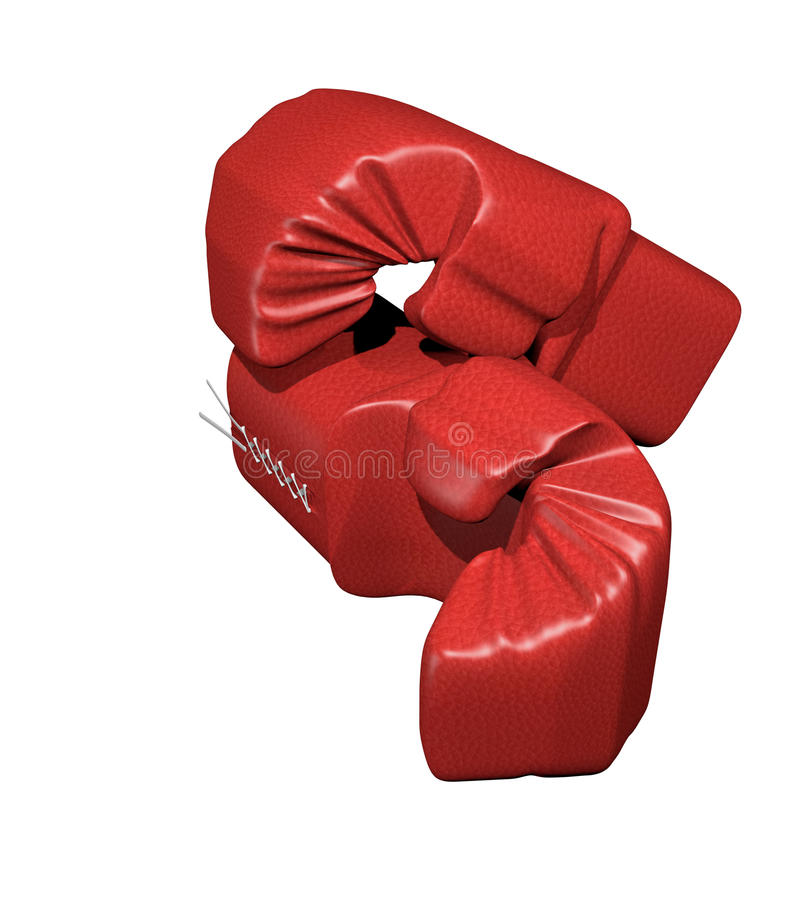 Rote Boxhandschuhe lizenzfreie stockfotografie