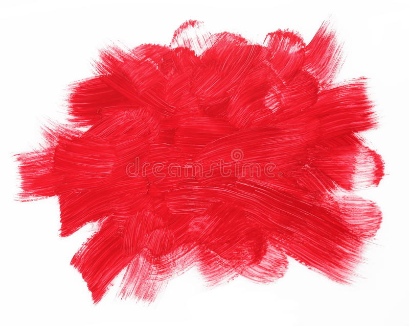 Rote Brushstrokes lizenzfreie stockbilder