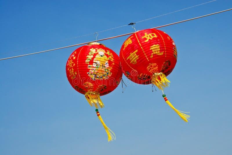 Rote chinesische Papierlaterne stockfoto