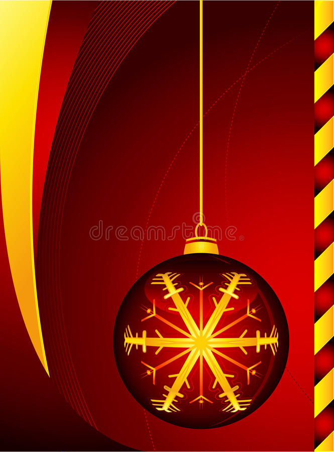 Rote Christmass Kugel stockfotos