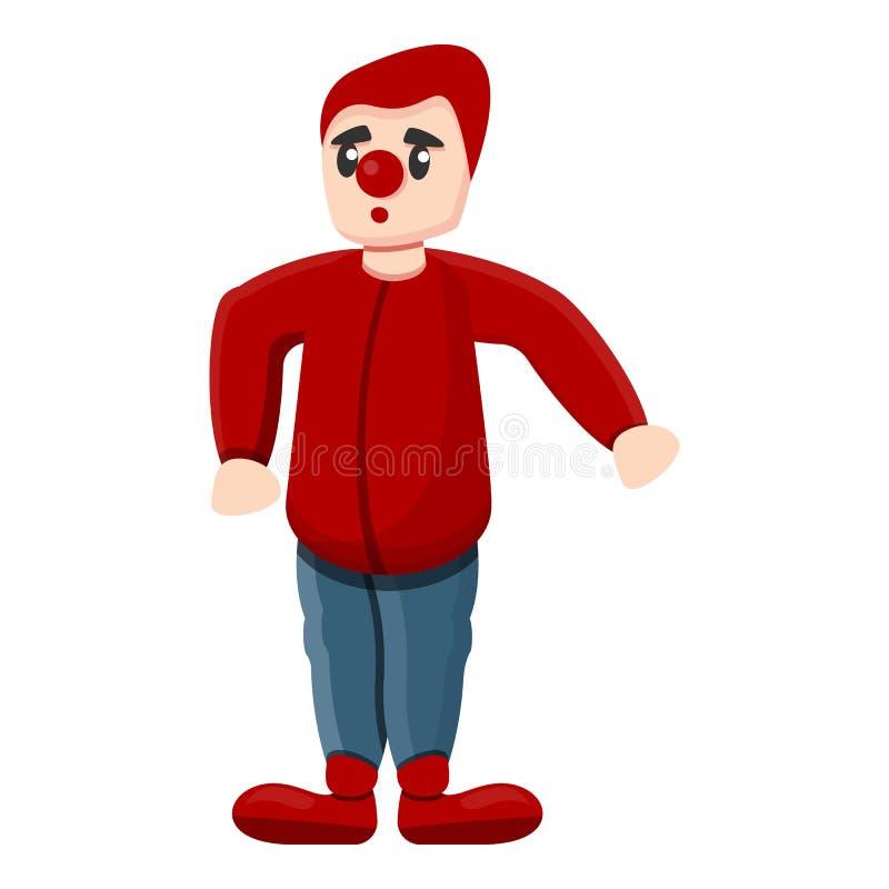 Rote Clownikone, Karikaturart lizenzfreie abbildung