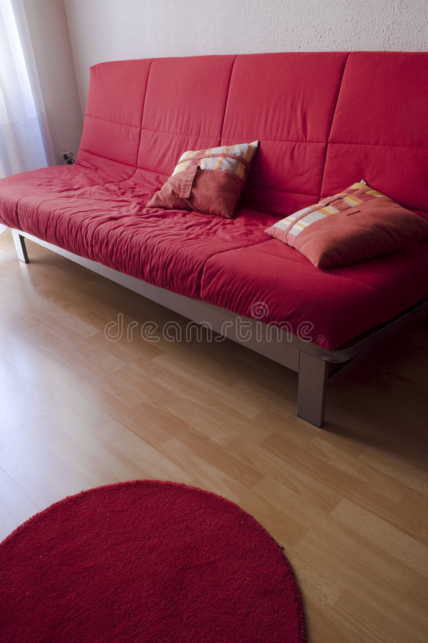 Rote Couch stockfotos