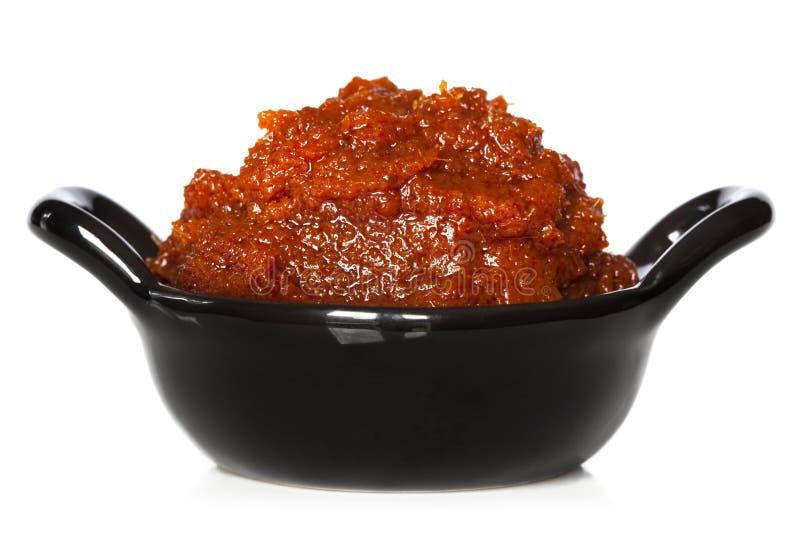 Rote Curry-Paste stockfotografie