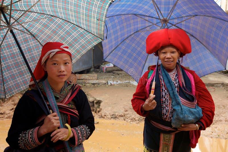 Rote Dao Ehtnic Minorität-Leute von Vietnam lizenzfreies stockbild