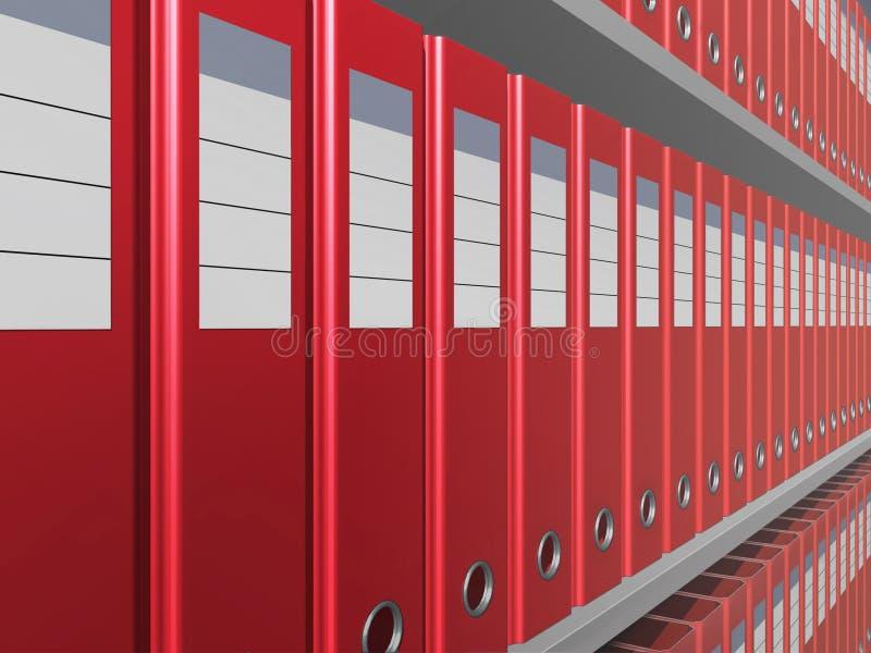 Rote Dateien stockfoto