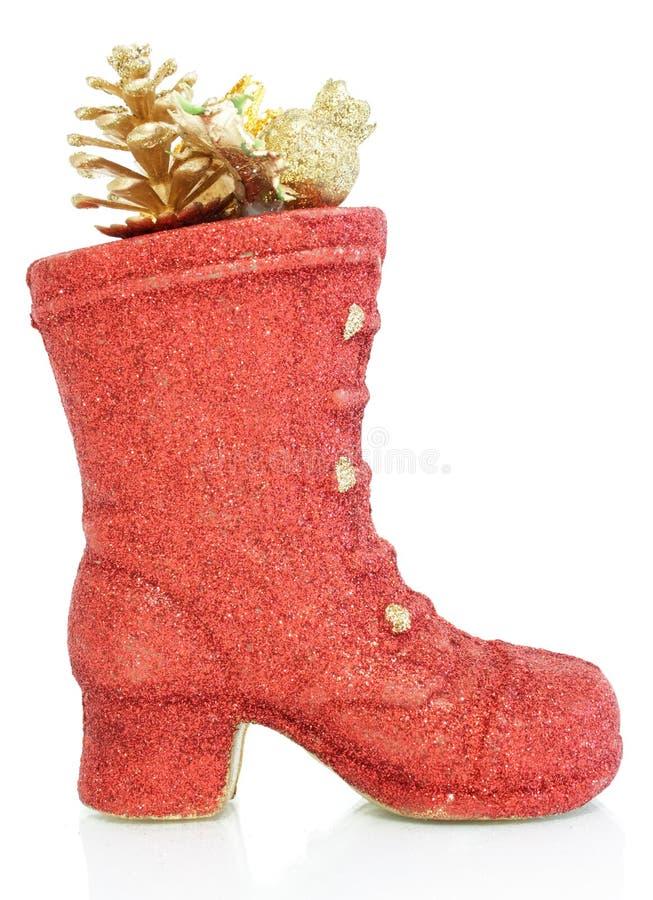 Rote dekorative Schuhe lizenzfreies stockfoto