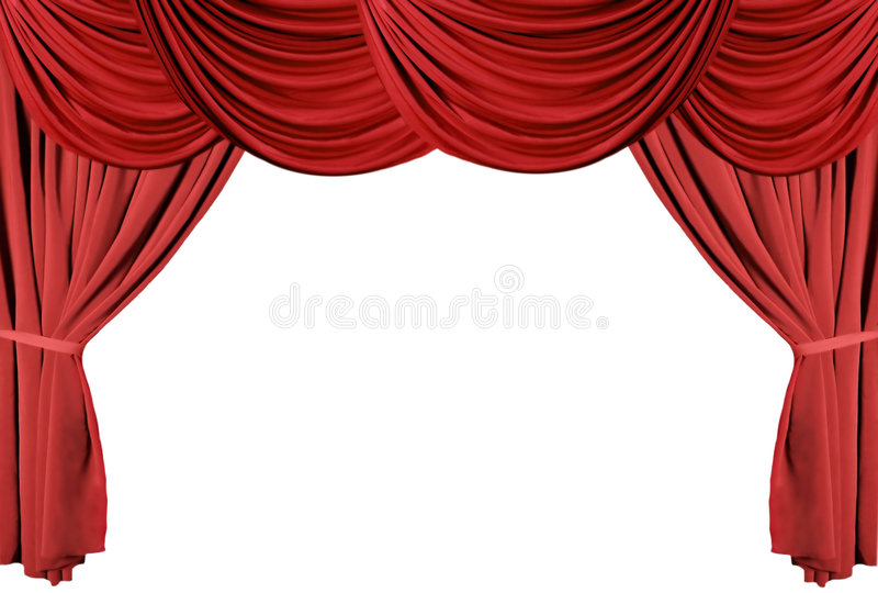 Rote drapierte Theater-Trennvorhang-Serie 3 stockfotos