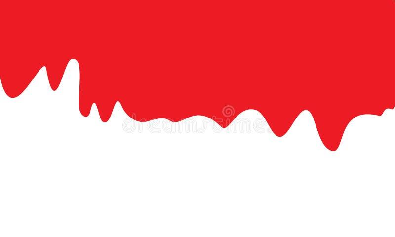 Rote dynamische Flüssigkeit stock abbildung