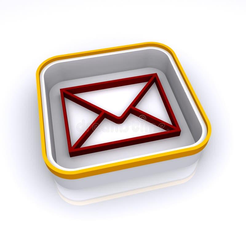 Download Rote eMail-Taste stock abbildung. Illustration von getrennt - 12201441