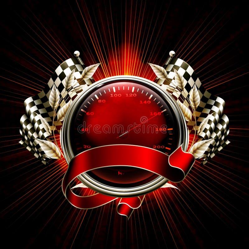 Rote Emblem-Rennen stock abbildung