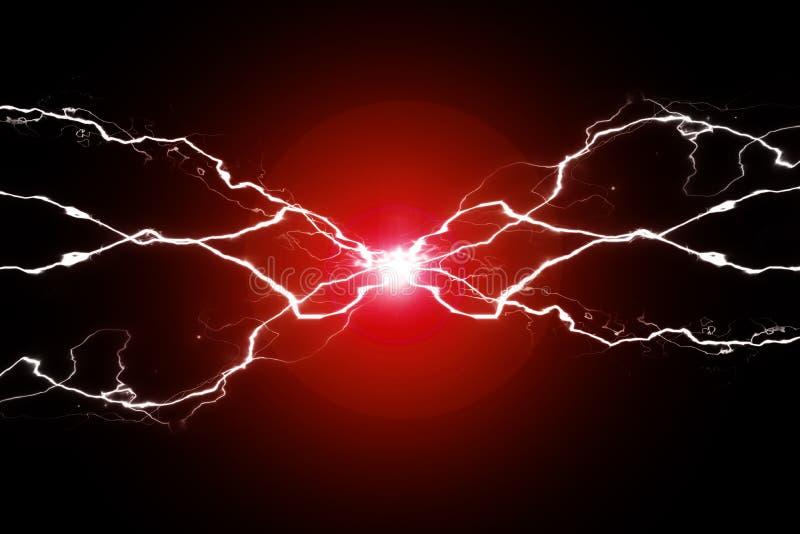 Rote Energie-Strom-Plasma-Energie-knisternde Fusion stockbilder