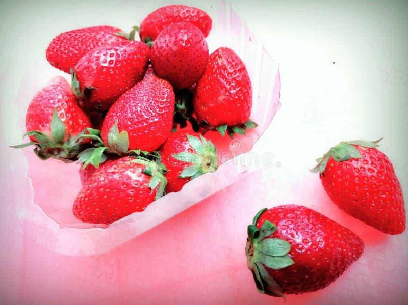 Rote Erdbeere stockbilder