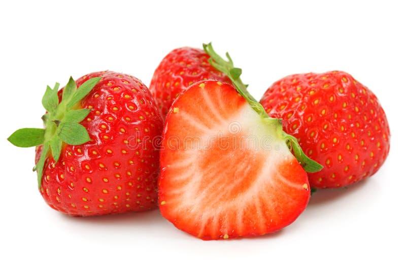 Rote Erdbeeren lizenzfreie stockfotos