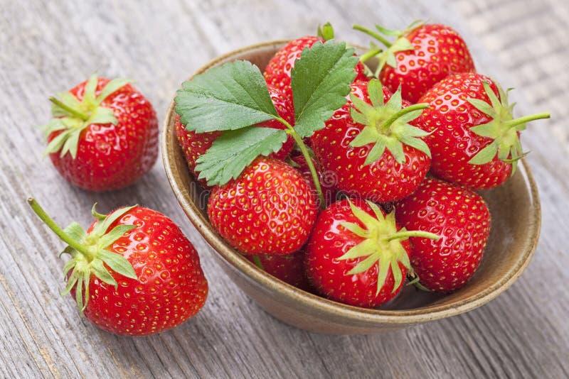Rote Erdbeeren lizenzfreie stockfotografie